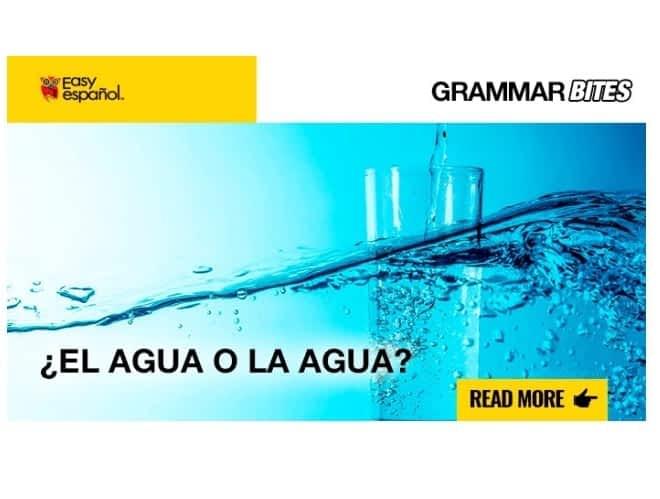 ¿El agua o la agua? - Easy Español